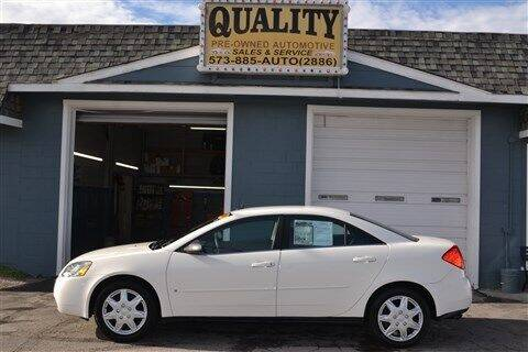 2008 Pontiac G6 for sale at Quality Pre-Owned Automotive in Cuba MO