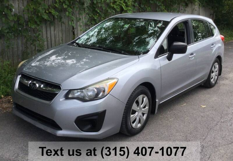 2014 Subaru Impreza for sale at Pete Kitt's Automotive Sales & Service in Camillus NY