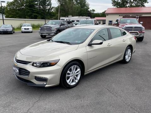 2016 Chevrolet Malibu for sale at Alexandria Auto Mart LLC in Alexandria PA