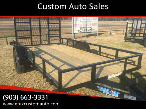 2021 Top Hat 6.5x12 Utility Trailer for sale at Custom Auto Sales - TRAILERS in Longview TX