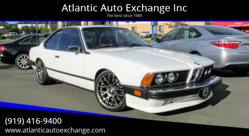 1986 BMW 6 Series for sale at Atlantic Auto Exchange Inc in Durham NC