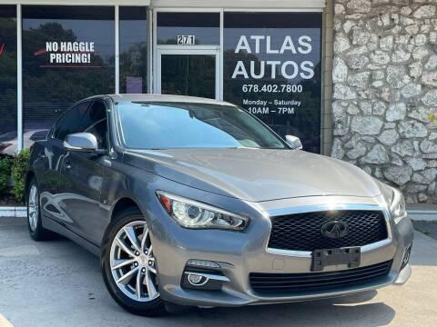 2015 Infiniti Q50 for sale at ATLAS AUTOS in Marietta GA
