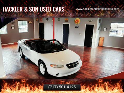 1998 Chrysler Sebring for sale at Hackler & Son Used Cars in Red Lion PA
