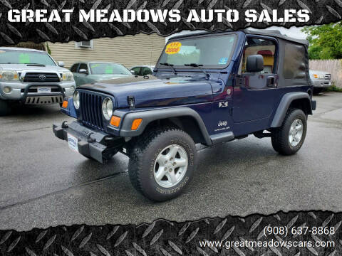 2006 Jeep Wrangler for sale at GREAT MEADOWS AUTO SALES in Great Meadows NJ