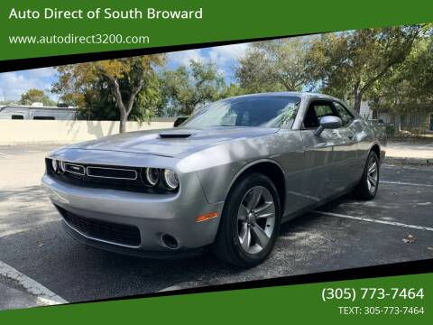 2017 Dodge Challenger for sale at Auto Direct of South Broward in Miramar FL