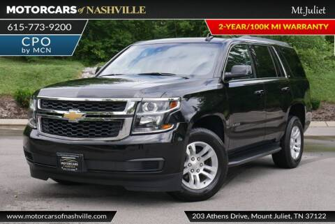 2019 Chevrolet Tahoe for sale at MotorCars of Nashville in Mount Juliet TN