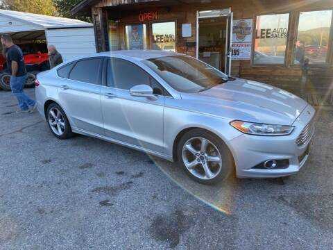 2015 Ford Fusion for sale at LEE AUTO SALES in McAlester OK