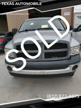 2004 Dodge Ram Pickup 2500 for sale at TEXAS AUTOMOBILE in Houston TX