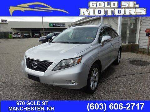 2012 Lexus RX 350 for sale at Gold St. Motors in Manchester NH