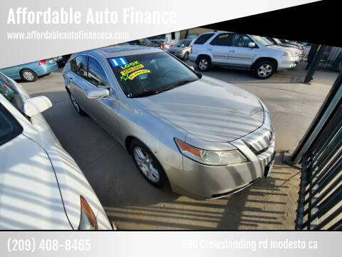 2011 Acura TL for sale at Affordable Auto Finance in Modesto CA