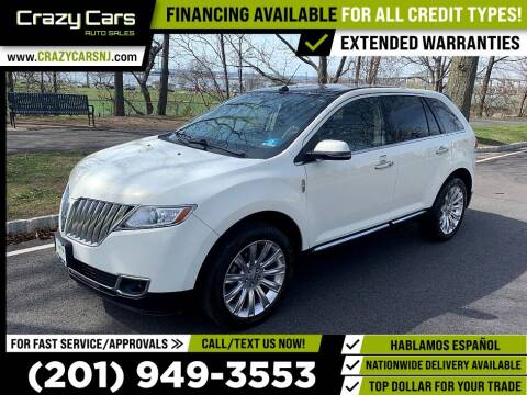 2013 Lincoln MKX for sale at Crazy Cars Auto Sale in Jersey City NJ