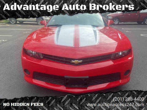 2015 Chevrolet Camaro for sale at Advantage Auto Brokers in Hasbrouck Heights NJ