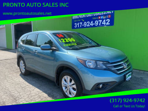 2014 Honda CR-V for sale at PRONTO AUTO SALES INC in Indianapolis IN