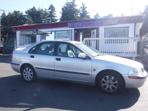 2001 Volvo S40 for sale at 777 Auto Sales and Service in Tacoma WA