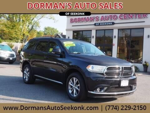 2015 Dodge Durango for sale at DORMANS AUTO CENTER OF SEEKONK in Seekonk MA