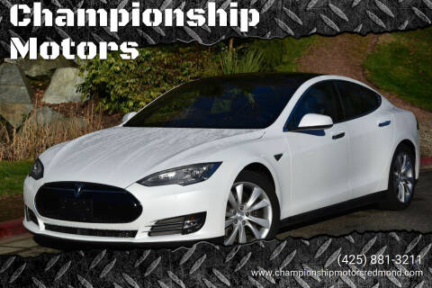 2015 Tesla Model S for sale at Championship Motors in Redmond WA