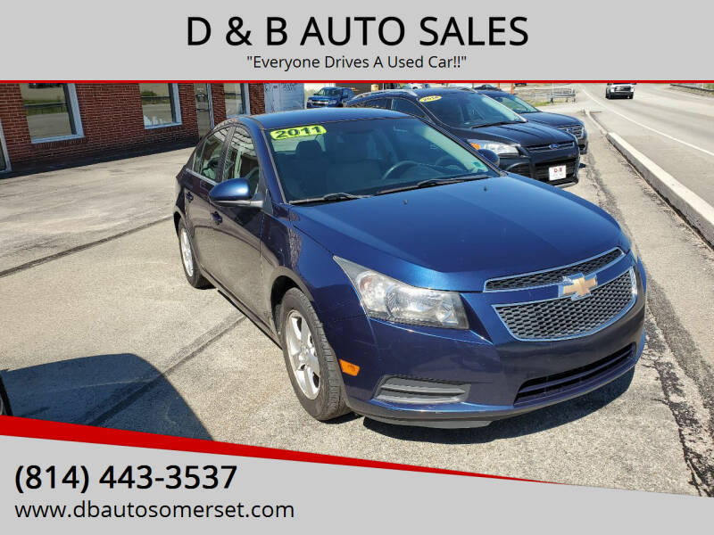 2011 Chevrolet Cruze for sale at D & B AUTO SALES in Somerset PA