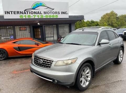 2008 Infiniti FX35 for sale at International Motors Inc. in Nashville TN