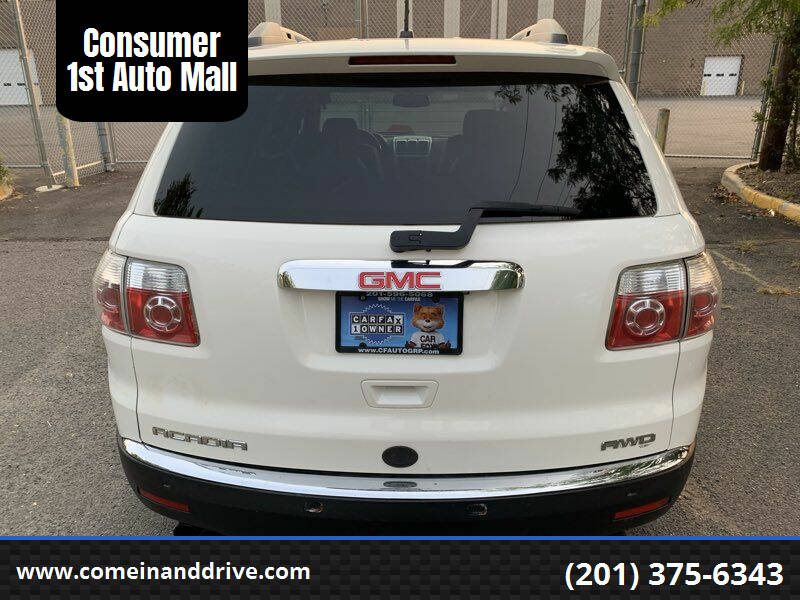 2012 GMC Acadia for sale at Consumer 1st Auto Mall in Hasbrouck Heights NJ