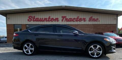 2013 Ford Fusion for sale at STAUNTON TRACTOR INC in Staunton VA