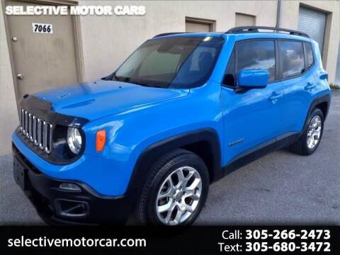 2015 Jeep Renegade for sale at Selective Motor Cars in Miami FL