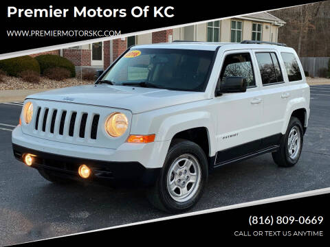 2016 Jeep Patriot for sale at Premier Motors of KC in Kansas City MO