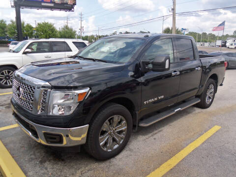 2019 Nissan Titan for sale at ORANGE PARK AUTO in Jacksonville FL