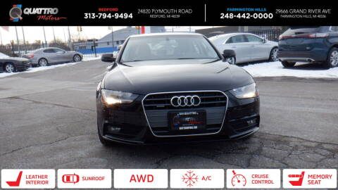 2014 Audi A4 for sale at Quattro Motors 2 - 1 in Redford MI
