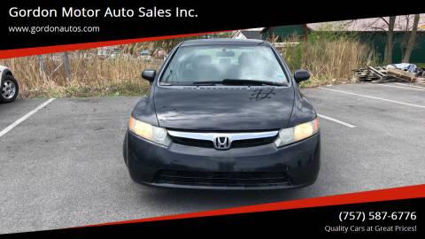2007 Honda Civic for sale at Gordon Motor Auto Sales Inc. in Norfolk VA