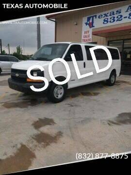 2004 Chevrolet Express Passenger for sale at TEXAS AUTOMOBILE in Houston TX