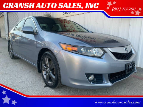 2009 Acura TSX for sale at CRANSH AUTO SALES, INC in Arlington TX