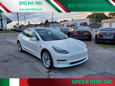 2019 Tesla Model 3 for sale at Green Ride Inc in Nashville TN