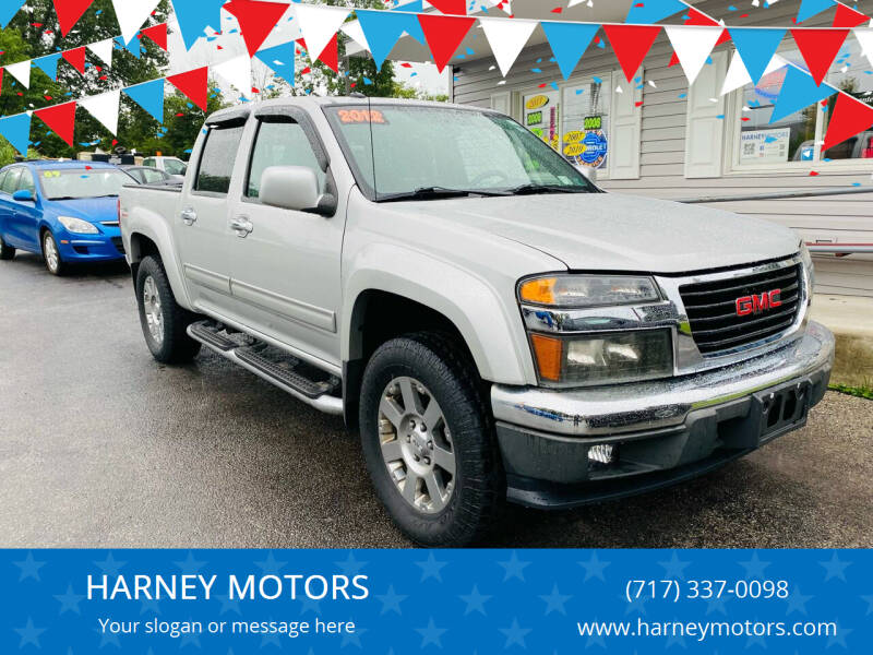2012 GMC Canyon for sale at HARNEY MOTORS in Gettysburg PA