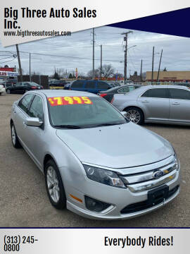 2012 Ford Fusion for sale at Big Three Auto Sales Inc. in Detroit MI