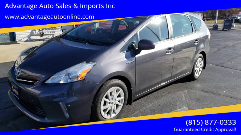 2012 Toyota Prius v for sale at Advantage Auto Sales & Imports Inc in Loves Park IL