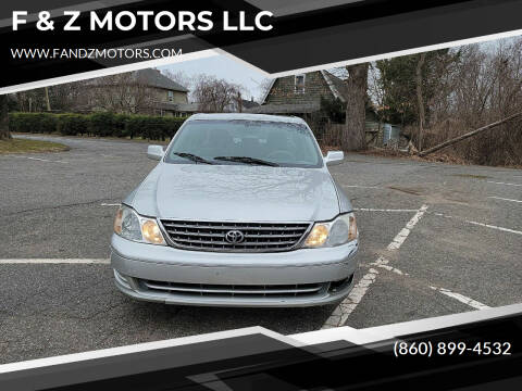 2003 Toyota Avalon for sale at F & Z MOTORS LLC in Waterbury CT