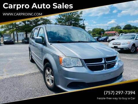 2013 Dodge Grand Caravan for sale at Carpro Auto Sales in Chesapeake VA