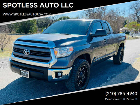 2014 Toyota Tundra for sale at SPOTLESS AUTO LLC in San Antonio TX