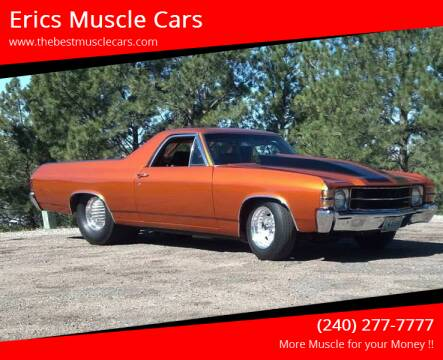 1971 Chevrolet PRO STREET El Camino for sale at Erics Muscle Cars in Clarksburg MD