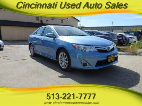 2012 Toyota Camry Hybrid for sale at Cincinnati Used Auto Sales in Cincinnati OH