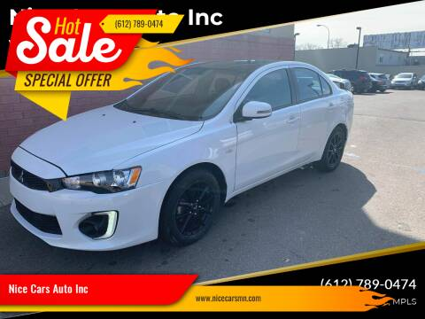 2017 Mitsubishi Lancer for sale at Nice Cars Auto Inc in Minneapolis MN