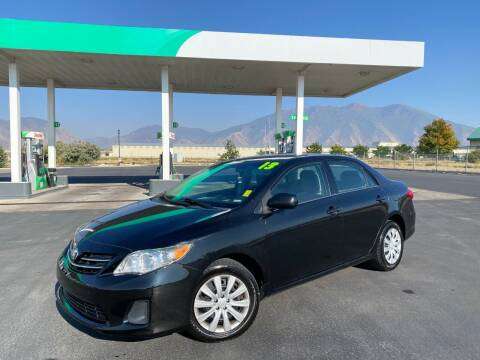 2013 Toyota Corolla for sale at Evolution Auto Sales LLC in Springville UT