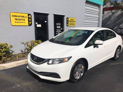 2015 Honda Civic for sale at FLORIDA CAR TRADE LLC in Davie FL