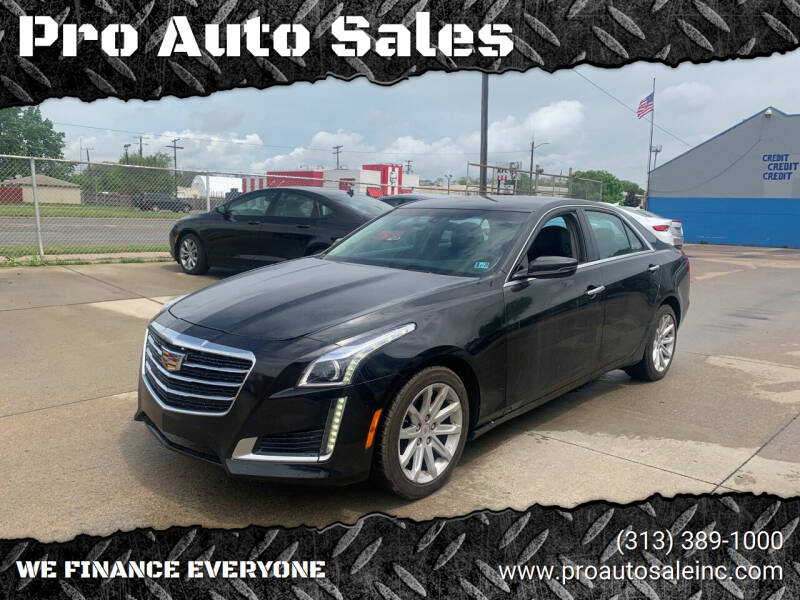 2014 Cadillac CTS for sale at Pro Auto Sales in Lincoln Park MI