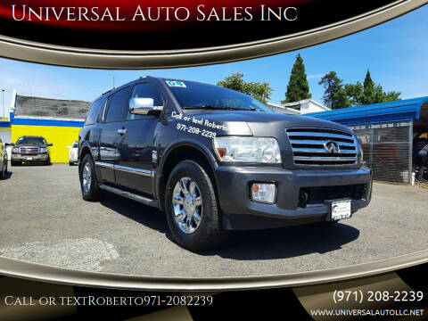 2004 Infiniti QX56 for sale at Universal Auto Sales Inc in Salem OR