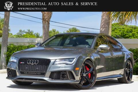 2014 Audi RS 7 for sale at Presidential Auto  Sales & Service in Delray Beach FL