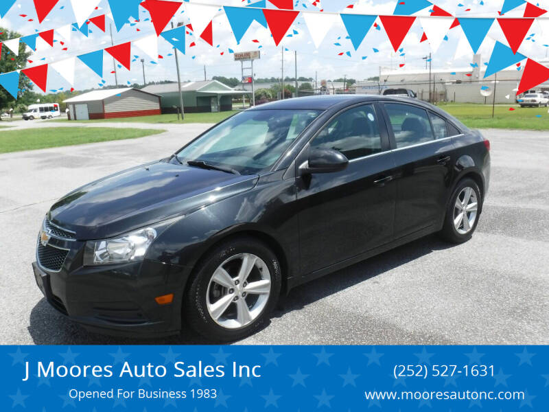 2014 Chevrolet Cruze for sale at J Moores Auto Sales Inc in Kinston NC