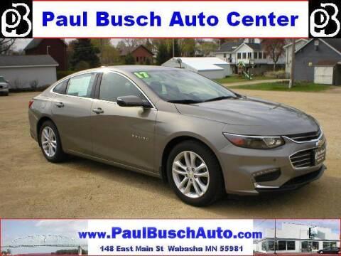 2017 Chevrolet Malibu for sale at Paul Busch Auto Center Inc in Wabasha MN