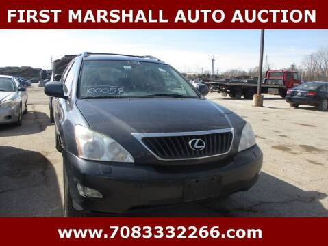 2009 Lexus RX 350 for sale at First Marshall Auto Auction in Harvey IL
