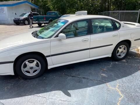 2002 Chevrolet Impala for sale at TOP OF THE LINE AUTO SALES in Fayetteville NC